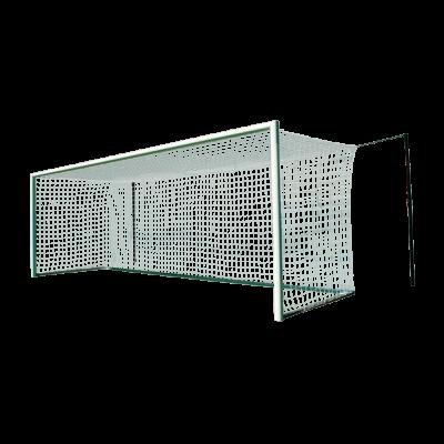 Vast voetbaldoel 7,32x2,44 WK-model netstrip kruising gekoppeld
