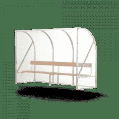 Dug-out type Basic vuren bank 3mtr