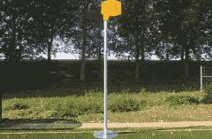 Korfbalpaal - Geschikt voor voetplaat