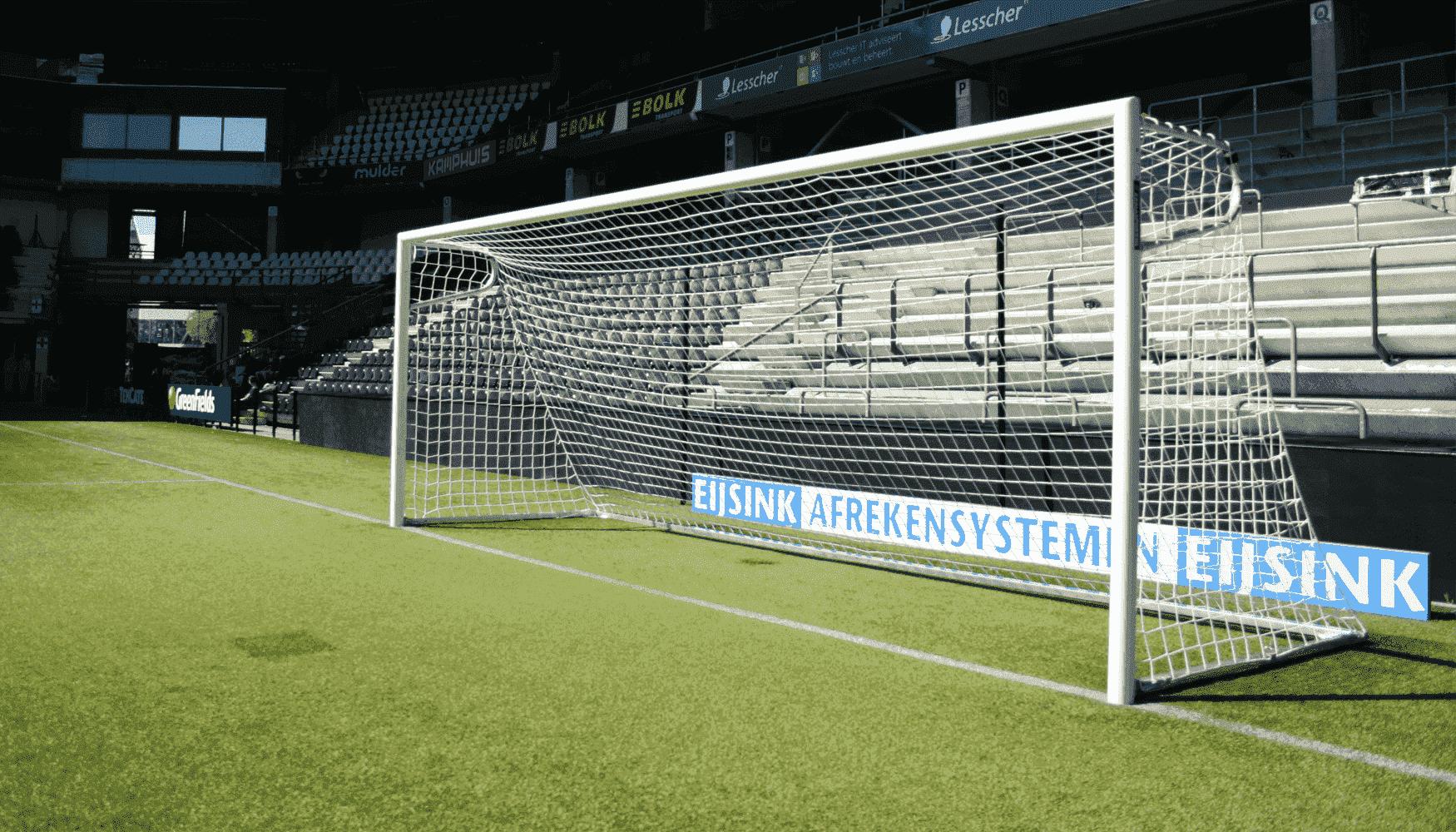 Hoe groot is een doel bij voetbal?
